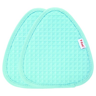 2pk Teal Waffle Silicone Pot Holder (7.5 x8.25 )- T-Fal®