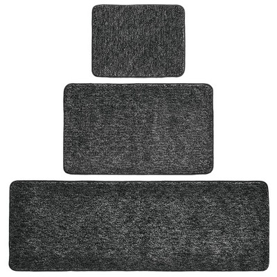 mDesign Spa Rug for Bathroom, Varied Sizes, Set of 3