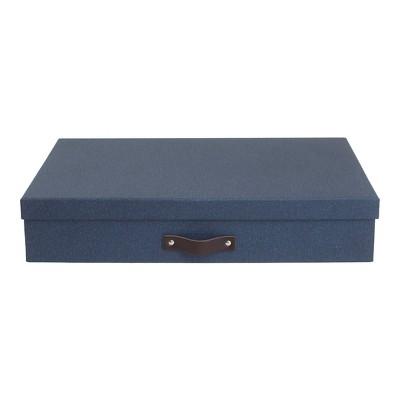 Sverker Canvas Document Box Blue - Bigso Box of Sweden