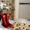 "TAG 1'6"" x 2'6"" Whimsy Christmas Doormat Xmas Holiday Camper Wreath Deer Tree Christmas Coir Doormat Indoor Outdoor Welcome Mat - image 2 of 3"