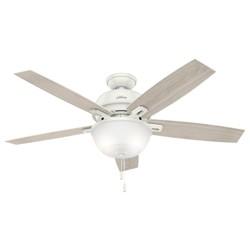 "52"" Donegan Bowl Light Fresh White Ceiling Fan with Light - Hunter Fan"