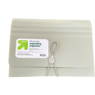 24 Pocket Expanding File Folder Organizer Letter Size Gray - up & up™