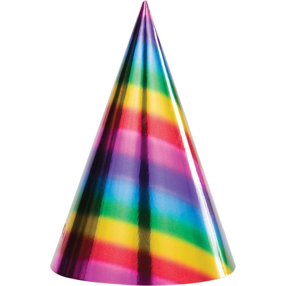 Image of 24ct Rainbow Foil Party Hats