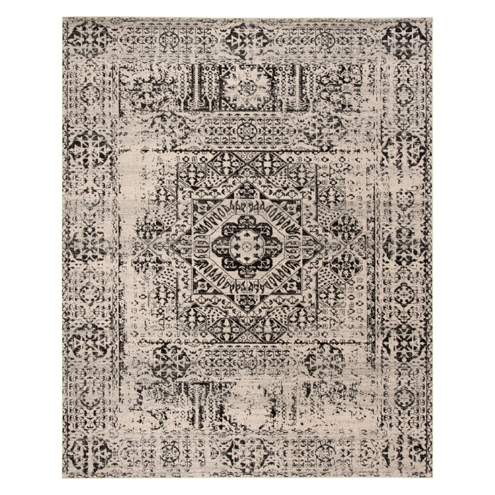 51x76 Medallion Loomed Area Rug Ivory/Black - Safavieh Best