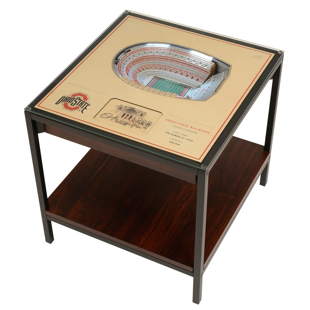 NCAA Ohio State Buckeyes 25 Layer Lighted StadiumView End Table