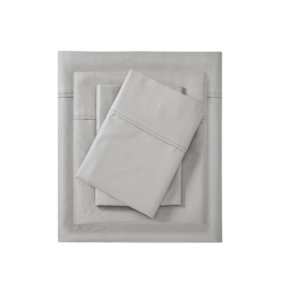 600 Thread Count Pima Cotton 4pc Sheet Set - Light Gray