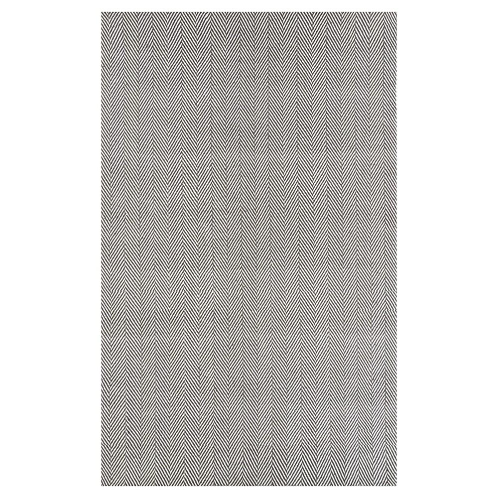 nuLOOM Cotton Hand Loomed Herringbone Cotton Area Rug - Gray (8' x 10'), Grey