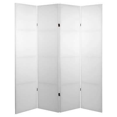 6 ft. Tall Do It Yourself Canvas Room Divider 4 Panel - Oriental Furniture