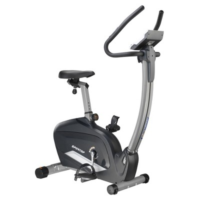 Sportop B800P Indoor Home Workout Bike Stationary Fitness Comfortable Cycler Exercise Machine w/ 12 Pre Programmed Trainings and Monitor Screen, Black