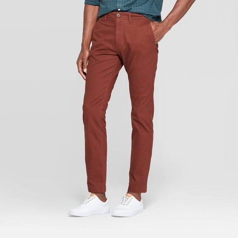 "Men's 32"" Slim Fit Chino Pants - Goodfellow & Co™ Pecan Pie - image 1 of 3"