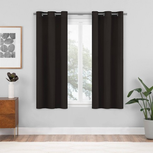 Set of 2 Shadow Blackout Curtain Panels - Eclipse - image 1 of 4