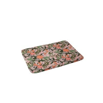 Marta Barragan Camarasa Olives in the Flowers Bath Mat Pink - Deny Designs