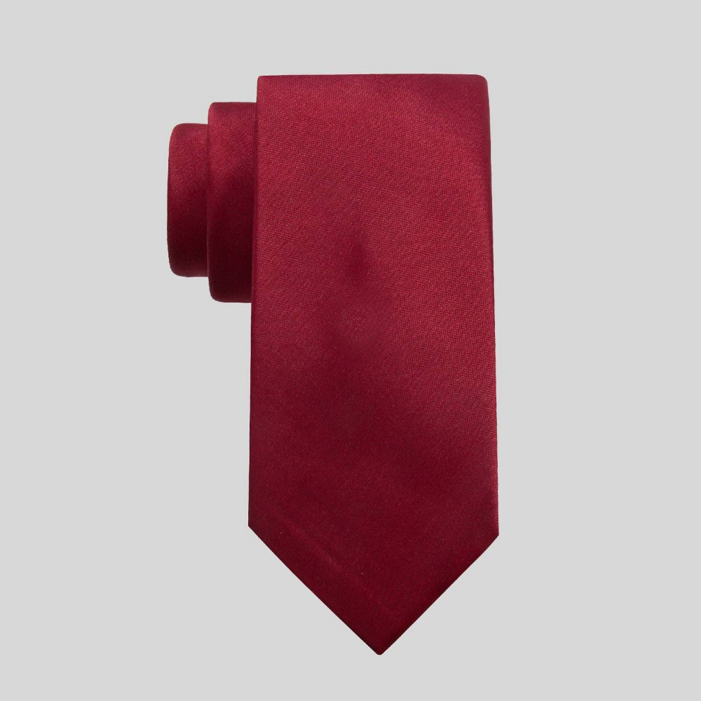 Image of Men's Fairway Solid Tie - Goodfellow & Co Red One Size, Men's