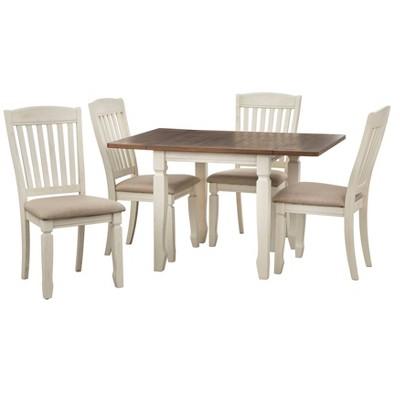 5pc Maryland Extendable Dining Table Set Walnut/White - Buylateral