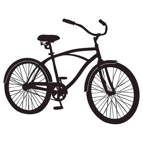 Bike Ride Wall Decal - Black - image 1 of 2