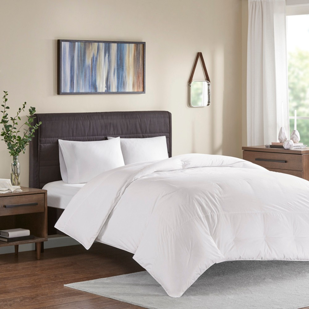 Twin Extra Warmth Oversized 100% Cotton Down Comforter White