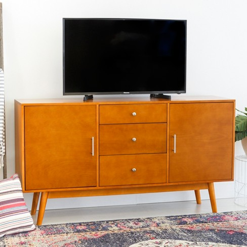 60 Mid Century Modern Wood Tv Console Saracina Home Target