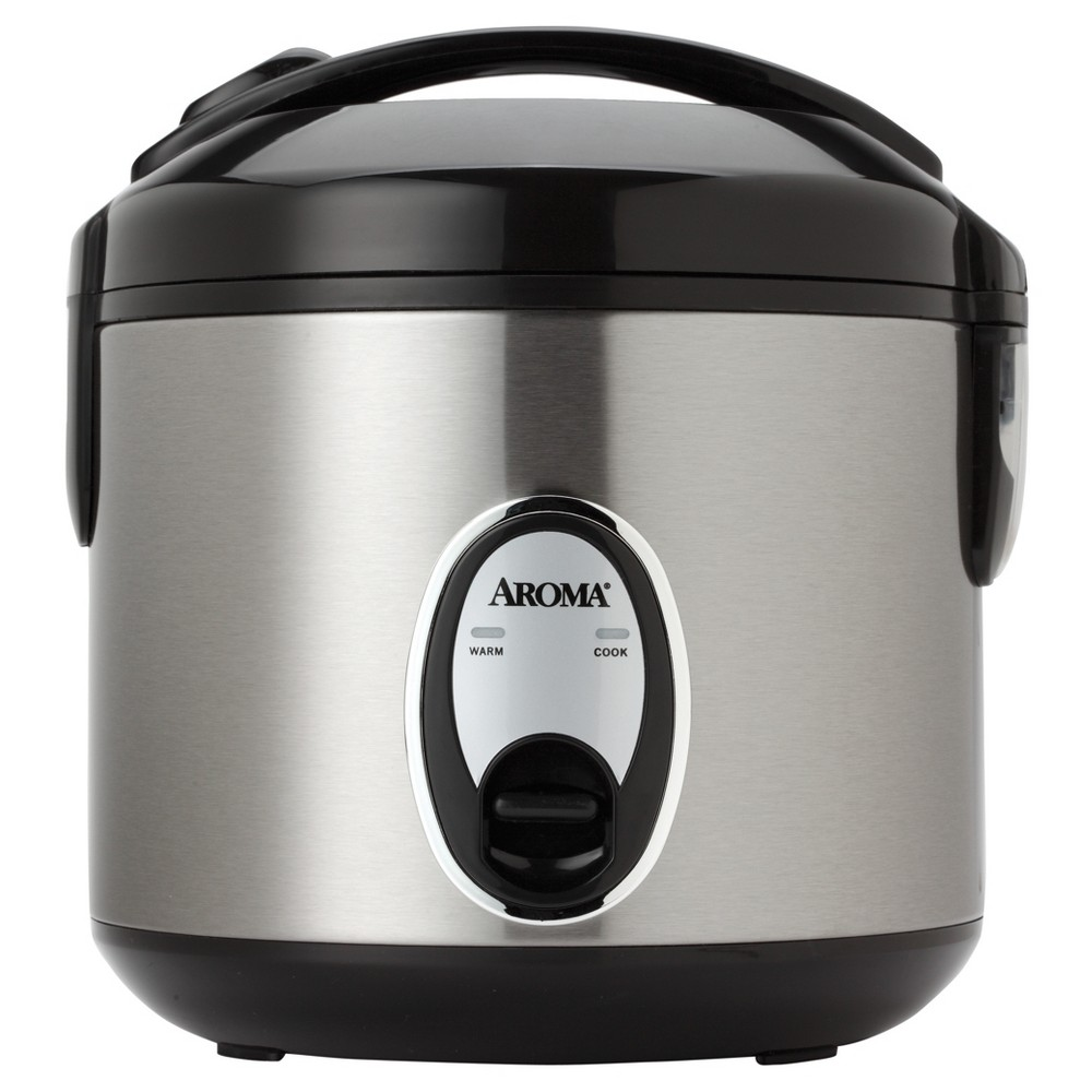 Image of Aroma 8 Cup Rice Cooker - Stainless Steel ARC-904SB, Silver