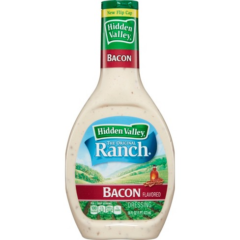 Hidden Valley Bacon Ranch Salad Dressing & Topping - Gluten Free - 16oz Bottle - image 1 of 5
