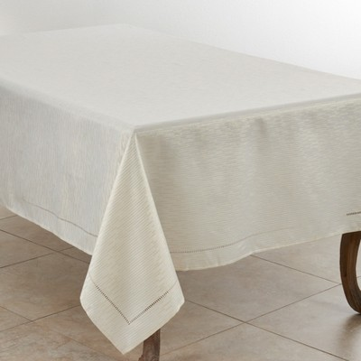 Saro Lifestyle Hemstitched Tablecloth With Casual Design