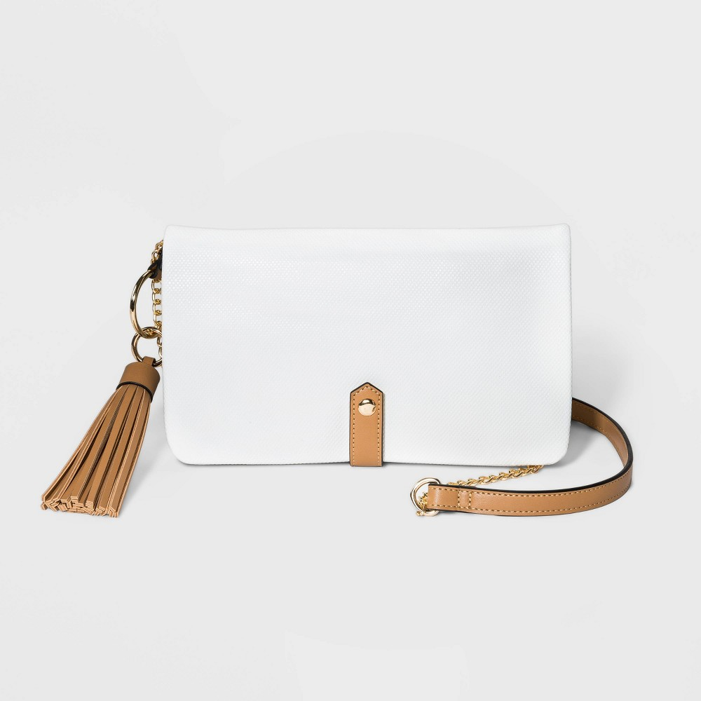 Image of VR NYC Convertible Foldover Compartment Crossbody Bag - White