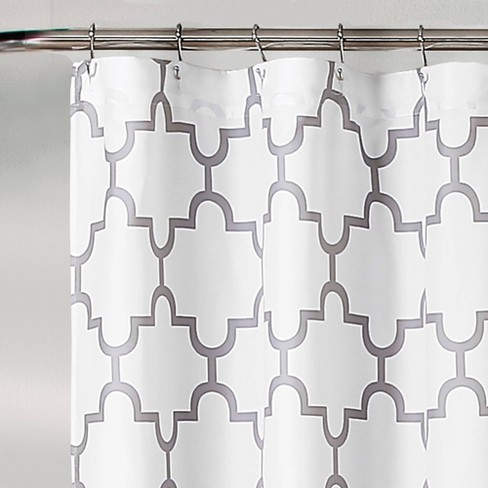 Lush Decor Geometric Shower Curtain Gray Target