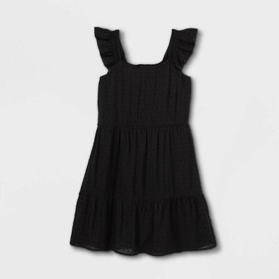 Girls' Tiered Woven Sleeveless Dress - art class™
