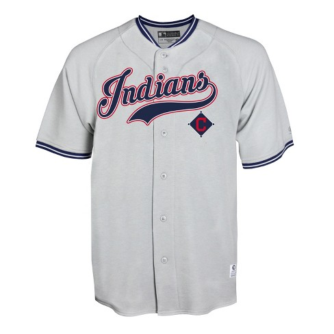 MLB Cleveland Indians Gray Retro Team Jersey - image 1 of 1