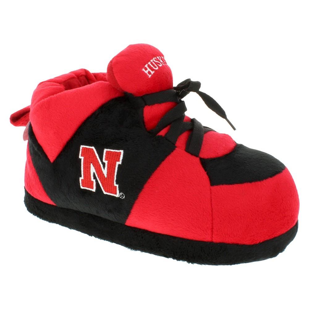 NCAA Nebraska Cornhuskers Adult Comfy Feet Sneaker Slippers - Red/Black L, Adult Unisex, Multicolored