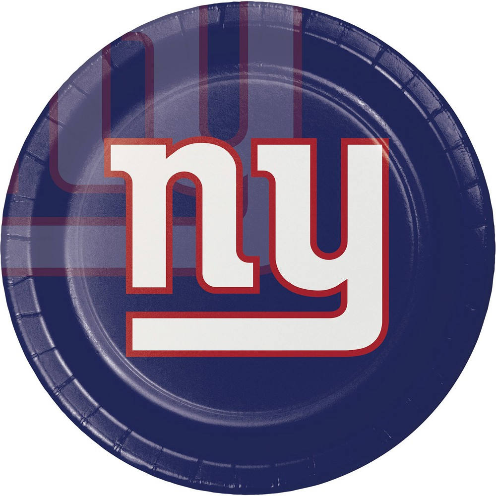 8ct New York Giants Paper Plates, Multi-Colored