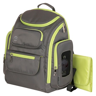 Jeep Organizer Easy Access Back Pack Diaper Bag - Gray/Green