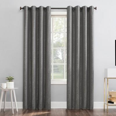 Peyton Distressed Chevron Thermal Extreme 100% Blackout Grommet Curtain Panel - Sun Zero