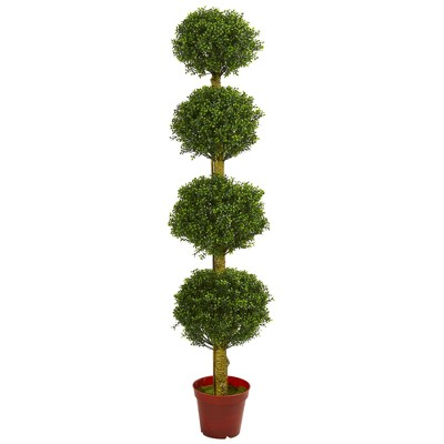 6ft Four Tier Boxwood Artificial Topiary Tree - Nearly Natural