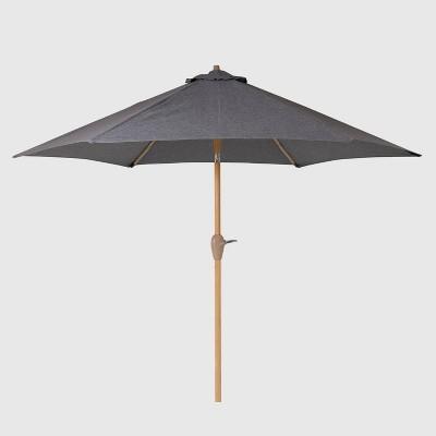 9' Round Patio Umbrella - Light Wood Pole - Threshold™