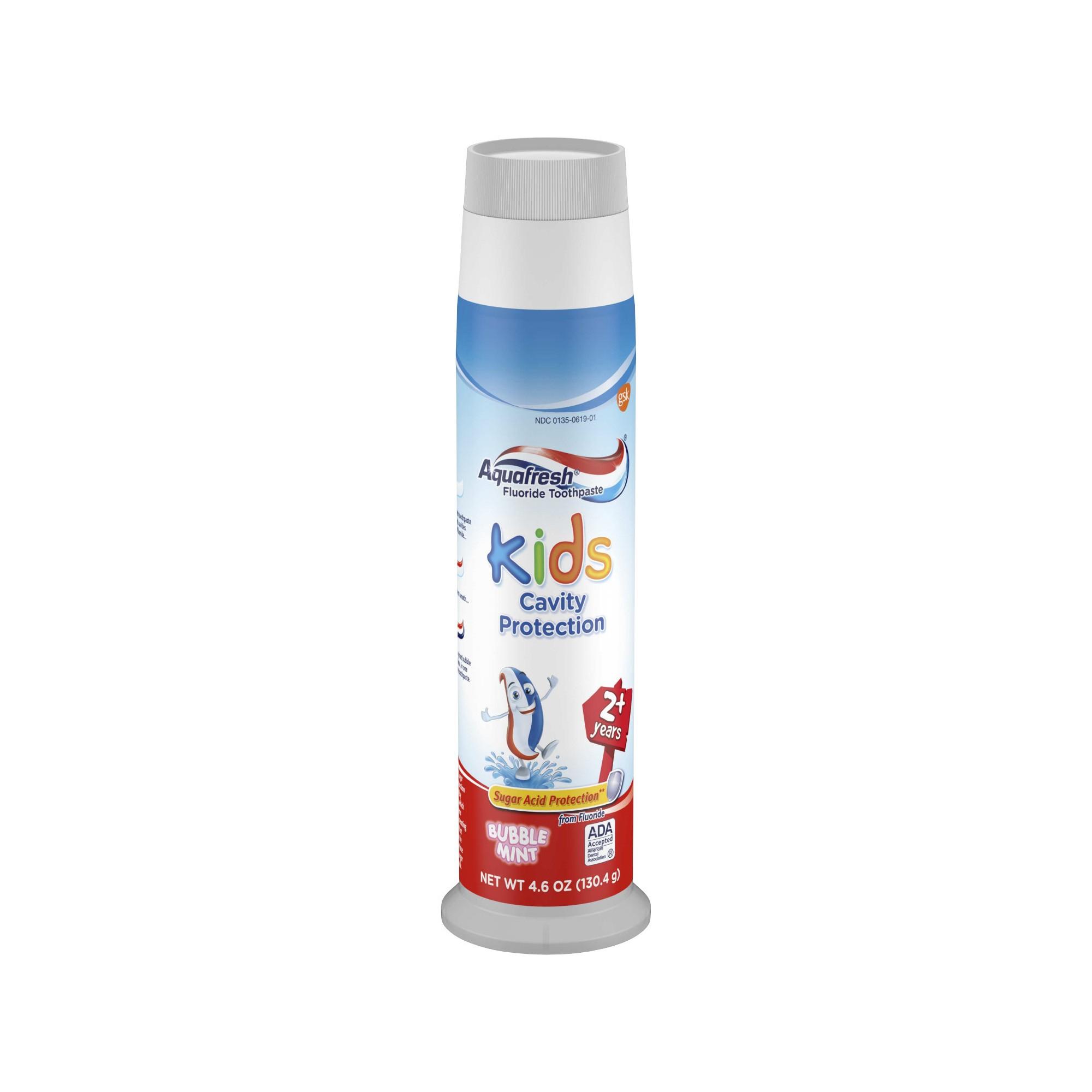 Kids' Aquafresh Bubble Mint Pump Toothpaste - 4.6oz