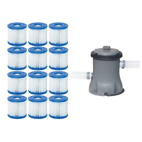 Bestway Pool Filter Pump Cartridge Type VII / D (6 Pack) + Pool Filter Pump - image 1 of 4