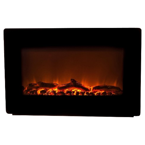Fire Sense Black Wall Mounted Electric Fireplace - image 1 of 7