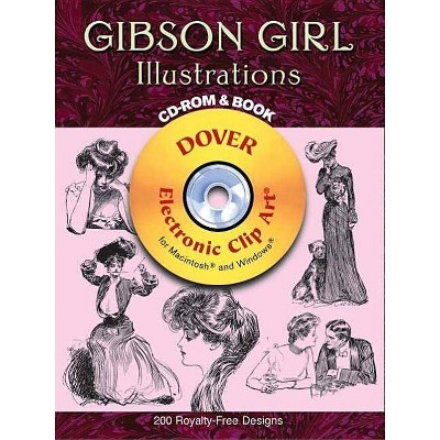 Gibson Girl Illustrations - (Dover Electronic Clip Art) by  Charles Dana Gibson (Mixed Media Product)