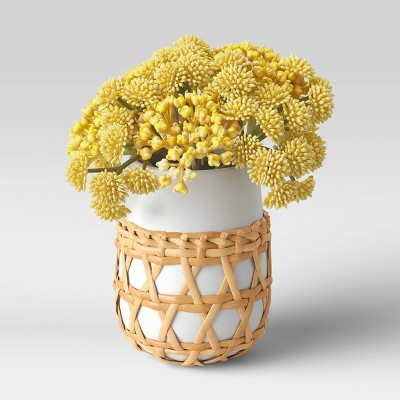 "7"" x 5"" Artificial Berry and Flower Arrangement in Ceramic Pot - Opalhouse™"