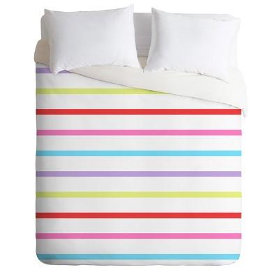 Kelly Haines Pop of Color Stripes Duvet Cover Set - Deny Designs