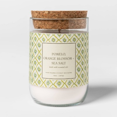 14oz Glass Pomelo Orange Blossom and Sea Salt Candle - Threshold™