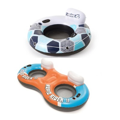 Bestway Rapid Rider Inflatable River Tube Float & Inflatable 2 Person River Raft
