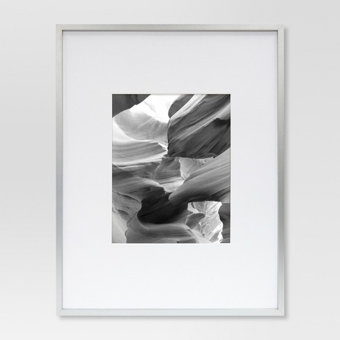 Metal Single Image Matted Frame 8x10 - Brushed Silver - Project 62 ...