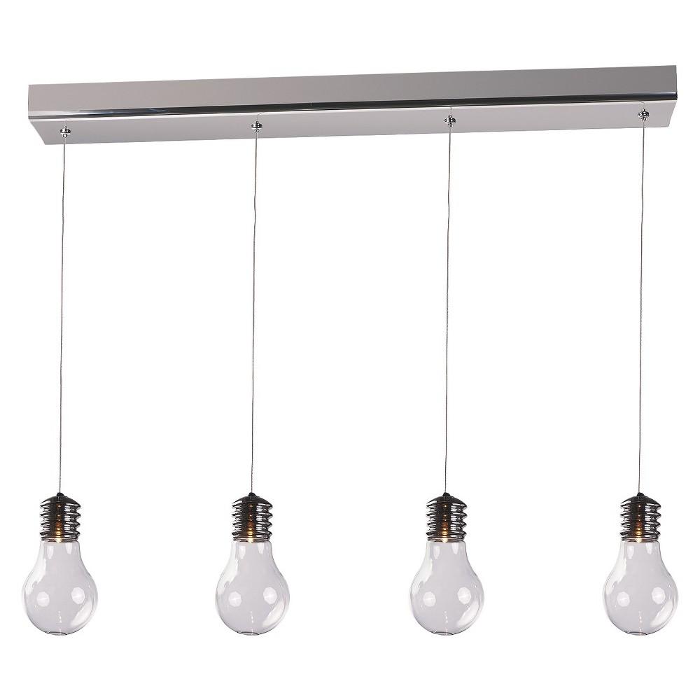Image of ET2 Lighting Edison 4-Light Pendant, Silver