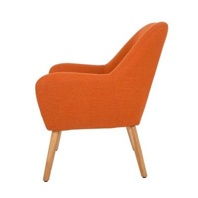 MidCentury Modern Oversized Accent Chair Orange   Glitzhome : Target