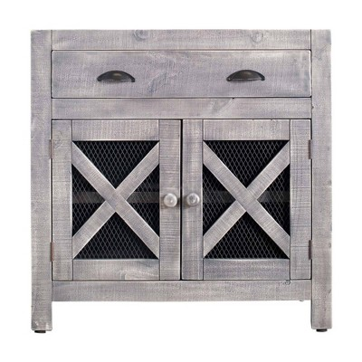 Rylan 2 Door Accent Chest Silver - Picket House Furnishings