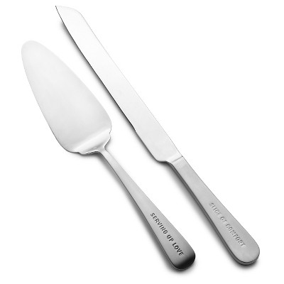 Towle Living Dining Expressions 2Pc. Cake Serving Set - Cake Knife and Server