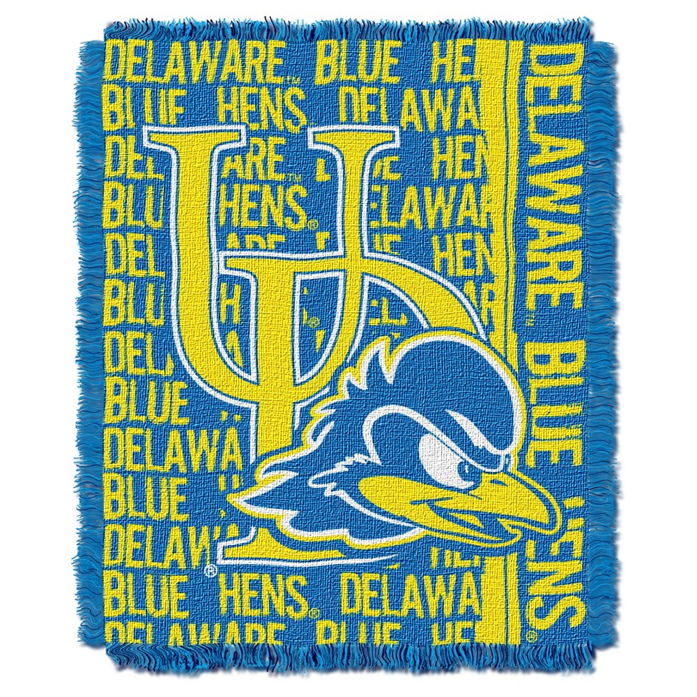 NCAA Triple Woven Throw Delaware Fightin' Blue Hens 48X60 Inches