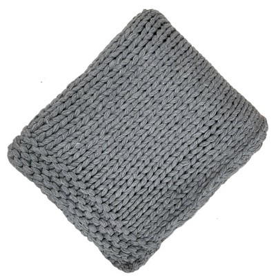 Chunky Knit Throw Blanket Gray - Threshold™