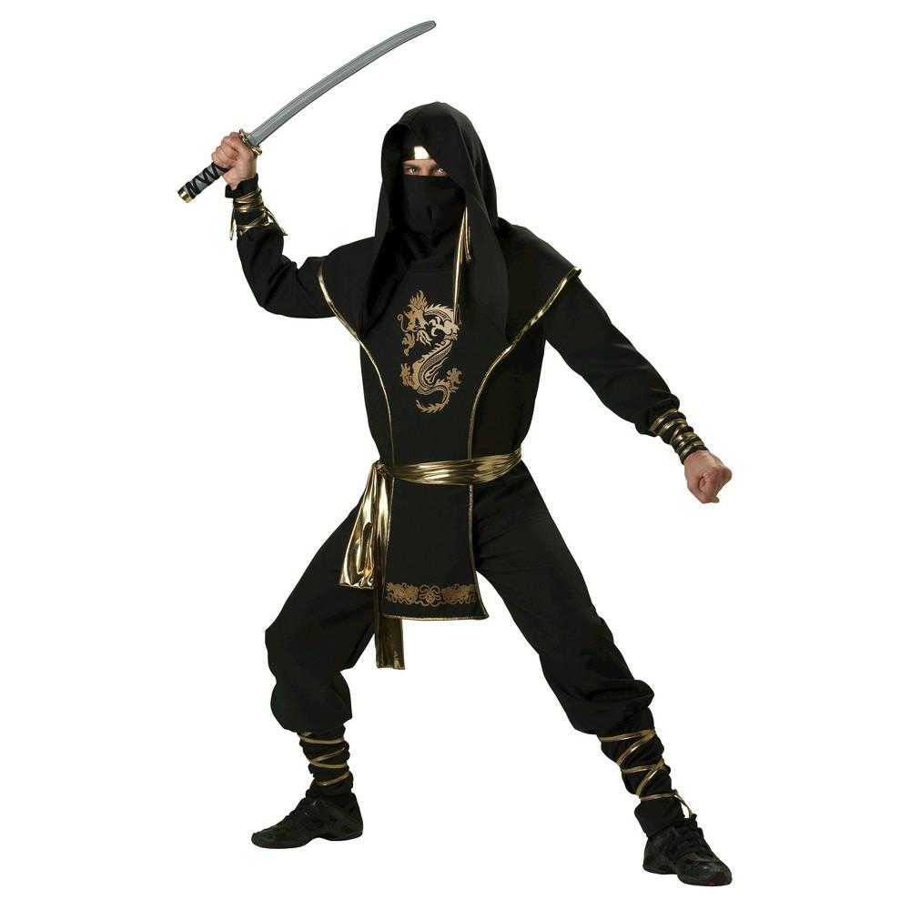Image of Halloween Men's Ninja Warrior Costume Medium, Black